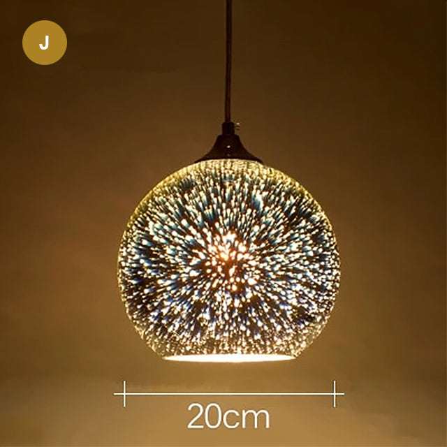 Starry Night Pendant Lights Colorful Creative Glass Lampshade Hanging Lights With Creative Color Effect Modern Home Lighting Solution For Home Restaurant Bar etc
