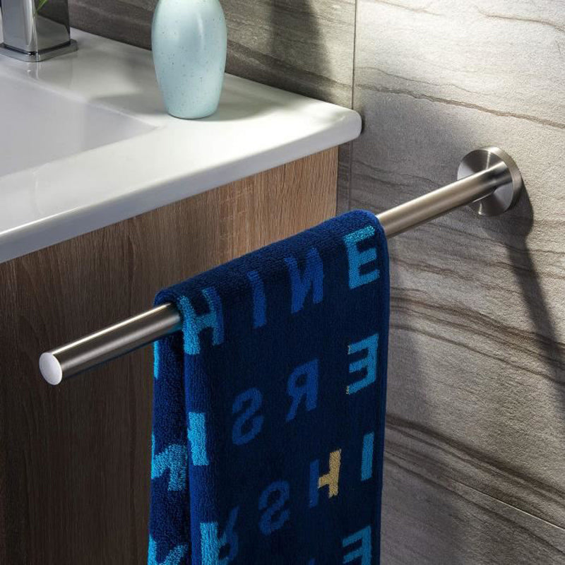 Stylish Bathroom Towel Holder High Grade Brushed Stainless Steel Fixed 40cm Rod For Hanging Towels Modern Bathroom Fitting Ideal For Washroom Or Kitchen