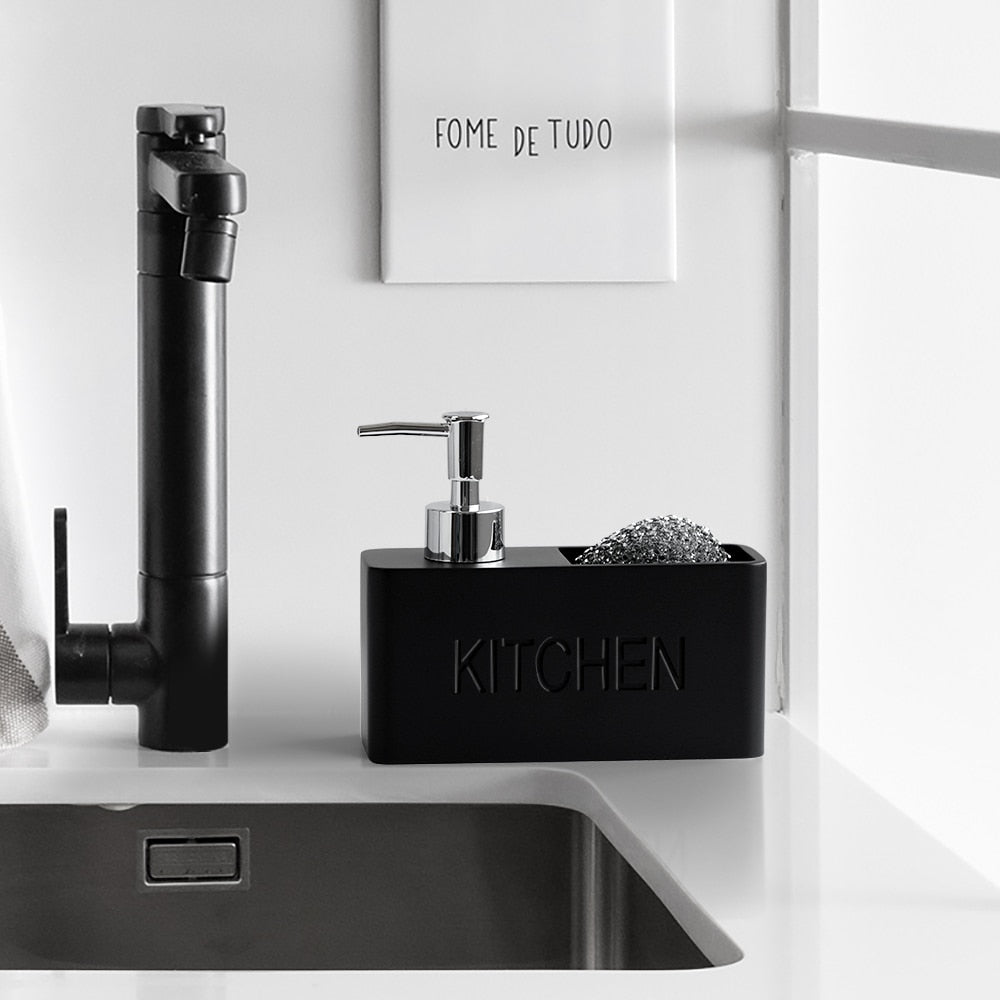Stylish Kitchen Tidy Soap Dispenser For Storing Liquid Cleaner Hand Soap Brushes Pads Spongers Scrubbers etc Essential Home Accessories For The Modern Kitchen