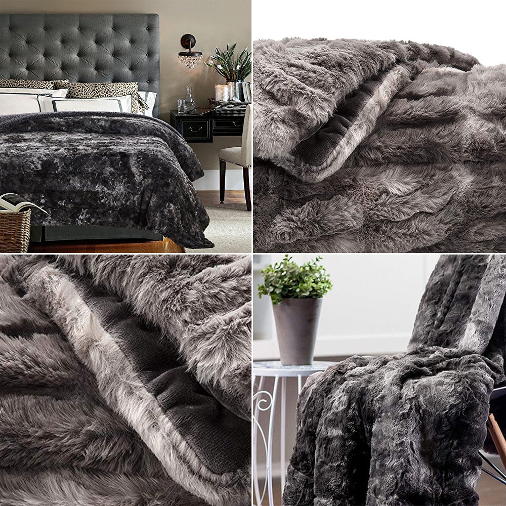 """<h3><span><strong>Super Soft Faux Fur Bedspread Blanket Throw Thick Luxury Fluffy Plush Blanket Cosy Warm Throw For&nbsp;Bedroom Living Room Winter Home Decor 8 Colors 3 Sizes.&nbsp;</strong></span></h3> <p><span><strong>Description:</strong>&nbsp;Soft&nbsp;Plush Blanket Bedspread.&nbsp;</span><br><span><strong>Material:</strong> Polyester / Cotton&nbsp;</span><br><span><strong>Feature:</strong>&nbsp;</span><span>Portable, Wearable&nbsp;</span><br><span><strong>Pattern Type:</strong> Solid&nbsp;</span><br><span><strong>Season:</strong> Winter&nbsp;</span><br><span><strong>Type:</strong>&nbsp;Fleece Fabric&nbsp;</span><br><span><strong>Model Type:</strong>&nbsp;Blanket for beds&nbsp;</span><br><span><strong>Pattern:</strong> Plain Dyed&nbsp;</span><br><span><strong>Style:</strong> Modern&nbsp;</span><br><span><strong>Technics:</strong> Woven</span><br><span><strong>Use:</strong> Picnic,&nbsp;</span><span>Travel,&nbsp;Camping</span><span>, H</span><span>ospital, H</span><span>ome, H</span><span>otel,&nbsp;</span><span>Airplane</span><br><span><strong>Wash Style:</strong> Mechanical Wash&nbsp;<br><strong data-mce-fragment=""""1"""">Color Fastness (Grade):</strong> 3-4<br><strong data-mce-fragment=""""1"""">Shape:</strong> Rectangle&nbsp;</span><br></p> <p><span><img alt=""""Super Soft Faux Fur Bedspread Blanket Throw Thick Luxury Fluffy Plush Blanket Cosy Warm Throw For Bedroom Living Room Winter Home Decor 8 Colors 3 Sizes"""" src=""""https://cdn.shopify.com/s/files/1/0270/7796/7917/files/Super_Soft_Faux_Fur_Bedspread_Blanket_Throw_Thick_Luxury_Fluffy_Plush_Blanket_Cosy_Warm_Throw_For_Sofa_01.jpg?v=1603052752""""></span></p> <p>&nbsp;</p> <p><span><img src=""""https://cdn.shopify.com/s/files/1/0270/7796/7917/files/Super_Soft_Faux_Fur_Bedspread_Blanket_Throw_Thick_Luxury_Fluffy_Plush_Blanket_Cosy_Warm_Throw_For_Bedroom_Living_Roo_4.jpg?v=1603051931"""" alt=""""Super Soft Faux Fur Bedspread Blanket Throw Thick Luxury Fluffy Plush Blanket Cosy Warm Throw For Bedroom Living Room Winter Home Decor 8 Color"""