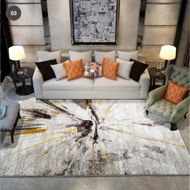 Thick Pile Abstract Pattern Modern Area Rug For Entrance Hallway Living Room Bedroom Dining Room Carpet Mat Contemporary Home Interior Decor