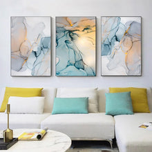 Load image into Gallery viewer, Abstract Fantasy Liquid Marble Print Wall Art Fine Art Canvas Prints Blue Jade Green Contemporary Pictures For Office Or Living Room Decor 7 Colors