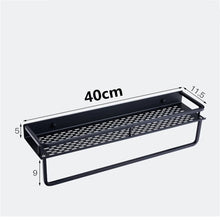 Load image into Gallery viewer, Aluminum Black Bathroom Storage Shelf Shower Rack Black Modern Fixtures And Fittings Bathroom Accessories Storage Rack