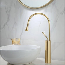 Load image into Gallery viewer, Brass Mixer Tap For Bathroom Basin Modern Contemporary Design Single Lever 360 Degree Rotation Spout For Kitchen Or Bathroom