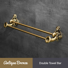 Load image into Gallery viewer, Bronze Angel Bathroom Fittings Soap Dish Robe Hook Cup Holder Toilet Paper Holder Glass Shelf Towel Bath Neo Classic Home Deco Washroom Bathroom Hardware