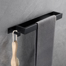 Load image into Gallery viewer, Square Design Stainless Steel Contemporary Bathroom Towel Rack Wall Mounted Requires No Drilling 3 Colors Matte Black Chrome & Brushed Nickel