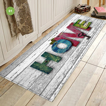 Load image into Gallery viewer, Colorful Rustic Wood Theme Welcome Home Door Mat Entrance Mat Non-Slip Kitchen Floor Mat For Hallway Doorway 3D Printed Mat
