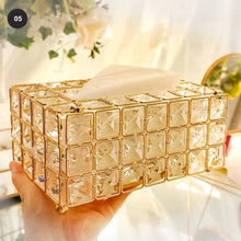 Load image into Gallery viewer, Crystal Bling Makeup Organizer Lipstick Holder Ornamental Dressing Table Jewelry Boxes Cosmetics Storage Box