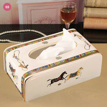 Load image into Gallery viewer, Elegant Vintage Luxury Ceramic Tissue Box Holder Serviette Paper Towel Box Holder For Home Office Hotel Living Room Bathroom Decor
