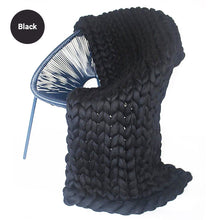 Load image into Gallery viewer, Extra Chunky Thick Yarn Hand Knitted Blanket Sofa Throw Thick Bedspread Blanket Bulky Weighted Cosy Warm Modern Stylish Fashion Sofa Throw Winter Blanket