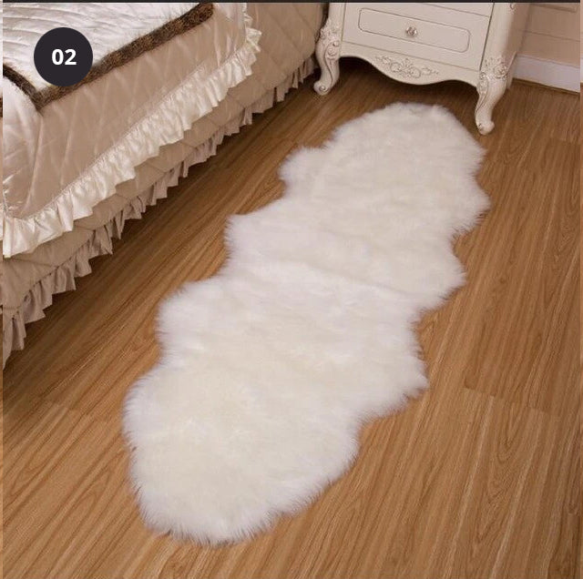 Furry Faux Sheepskin Rug Sumptuous Shaggy Fake Fur Rug For Bedroom House Boutique
