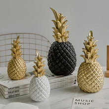 Load image into Gallery viewer, Golden Pineapple Nordic Style Decorative Ornament Tropical Ananas Table Fruit Fashion Home Decor For Living Room Desktop Decoration In Gold White Or Black