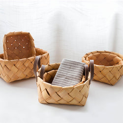 Handmade Woven Baskets For Storing Fruit Vegetables Eggs Bread Storage Eco Friendly Mini Wicker Baskets For Kitchen Home Housekeeping Organization Solution