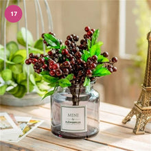 Load image into Gallery viewer, Luxurious Floral Bouquet In Glass Vase Modern Ornamental Artificial Flowers Stylish Home Furnishing Tabletop Decorations