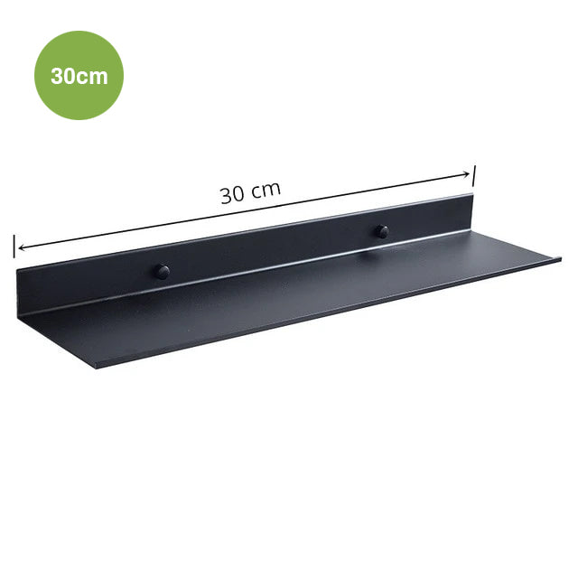 Modern Matt Black Aluminium Shelf Bathroom Storage Rack For Kitchen Washroom Simple Minimalist Designer Bathroom Fitting Single Tier Shelf