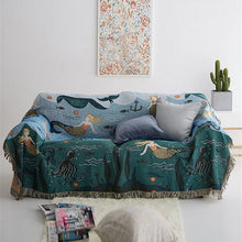 Load image into Gallery viewer, Mermaid In The Sea Knitted Sofa Throw Nordic Style Blanket For Sofa Bed Blanket For Living Room Travel Blanket Modern Home Textiles