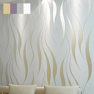 Modern Embossed 3D Abstract Curves Wallpaper For Living Room Bedroom Contemporary Home Decor Wavy Stripes Wallpaper