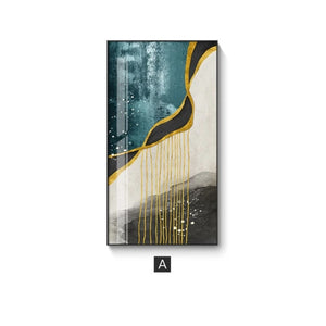 Modern Abstract Landscapes Wall Art Tall Rectangle Format Fine Art Canvas Prints Contemporary Nordic Style Luxury Art Decor For Modern Home Interiors
