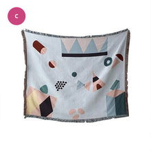 Load image into Gallery viewer, Modern Colorful Abstract Tapestry Sofa Throw Soft Knitted Sofa Blanket Chair Cover Bedspread For Bedroom Living Room Sofa Cover