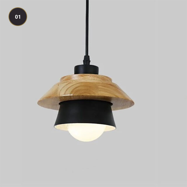 Modern Design Pendant Lamps For Kitchen Diner Cafe Restaurant Bedroom Or Study Contemporary Nordic Hanging Lights Wood & Metal Round or Square