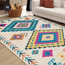 Load image into Gallery viewer, Modern Nordic Rug Colorful Vintage Geometric Design Area Mat For Living Room Dining Room Bedroom Carpet Sofa Rug Dining Table Floor Mat Rectangle 10 Sizes