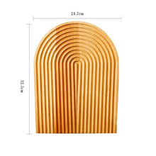 Load image into Gallery viewer, Natural Beech Wood Retro Japanese Style Bread Board Kitchen Tableware Wooden Chopping Block Dessert Tray Dining Table Decor