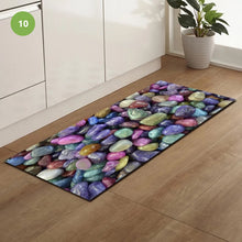 Load image into Gallery viewer, Non-Slip Kitchen Floor Pebble Mat 3D Effect Printed Anti-Slip Kitchen Floor Mat Water Absorbent Mat For Kitchen Gym Exercise Mat