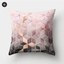 Load image into Gallery viewer, Nordic Style Marble Print Cushion Cases Colorful Pink Agate Thai Dye Geometric Cushion Covers For Modern Living Room Glam Home Decor