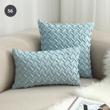 Load image into Gallery viewer, Nordic Style Woven Cushion Cover Square 45x45cm Rustic Colors Plain Dyed Solid Color Wovern Plain Fabric Suede Cushion For Sofa