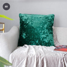 Load image into Gallery viewer, Pure Velvet Sofa Cushion Cover Elegant Fashionable Velvet Fabric Pillowcase Luxury Sofa Cushion Cover Square Size 50x50cm