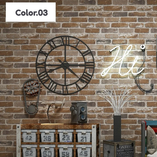 Realistic Faux Bricks Wallpaper Industrial Style Exposed Brickwork PVC Printed Wallpaper For Loft Home Shop Office Wall Decor