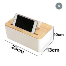 Load image into Gallery viewer, Scandinavian Tissue Box Wooden Lid Multipurpose Plastic Container Simple Modern Home Accessories Nordic Style For Kitchen Living Room Table