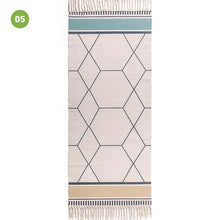 Load image into Gallery viewer, Modern Ethnic Style Linen Tassel Woven Rug Geometric Design Area Rug Carpet Floor Mat For Living Room Dining Bedroom Room Decor