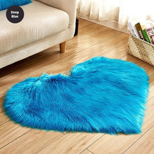Load image into Gallery viewer, Shaggy Heart Rug Soft Faux Sheepskin Fur Carpet Mat Cute Woolly Fluffy Carpet Rug For Bedroom Living Room Artificial Sheepskin in Sizes S / M / L