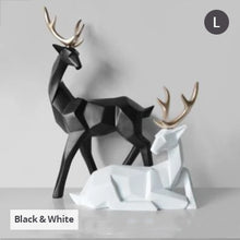 Load image into Gallery viewer, Solid Geometric Nordic Deer Statues Stylish Abstract Ornamental Resin Craft Modern Abstract Decorations For Home Living Room Office Decor