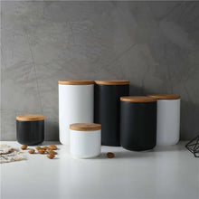 Load image into Gallery viewer, Stylish Nordic Minimalist Sealed Ceramic Storage Jars For Tea Coffee Spices etc Containers With Lids For Kitchen Foodstuffs Tea Caddy