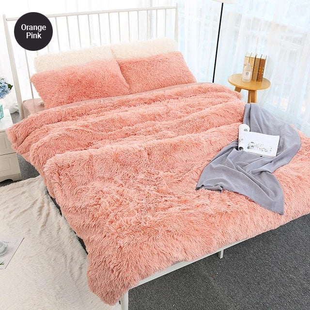 Super Soft Shaggy Faux Fur Blanket Fluffy Bedspread Cover Furry Throw For Sofa Chair Simple Stylish Bedding Living Room Furniture Throws Multiple Colors
