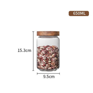 Airtight Food Storage Glass Jars With Bamboo Lid Stylish & Practical Jars For Storing Coffees Tea Leaves Grains Beans Spices Herbs etc