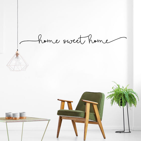 Home Sweet Home Simple Welcoming Minimalist Quote Wall Art Decal Removable Vinyl Wall Sticker For House Interior Decoration