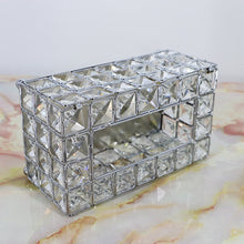 Load image into Gallery viewer, Crystal Rhinestone Tissue Box Gold Silver Elegant Tableware Serviette Dispenser Glam Decor Box For Bedroom Dining Room Restaurant