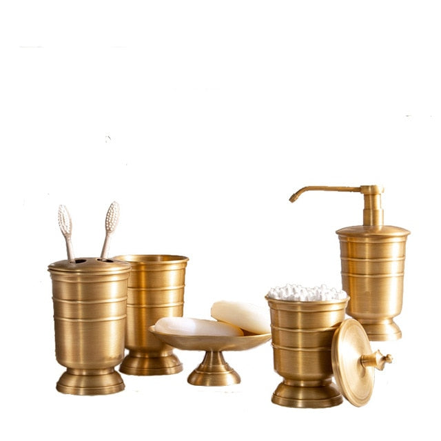 Antique Bronze Luxury Bathroom Accessories Set Toothbrush Holder & Cup Soap Dish Soap Dispenser Buy Individually Or 5 Pcs Set