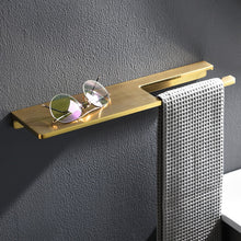 Load image into Gallery viewer, Shiny Brass Bathroom Shelf Shower Rack For Holding Towel And Accessories Polished Brass Bathroom Fixtures And Fittings