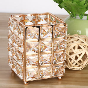 Fashion Bling Cosmetics Storage Pots For Makeup Brushes And Dressing Table Beauty Sundries Girls Bedroom Glam Decor