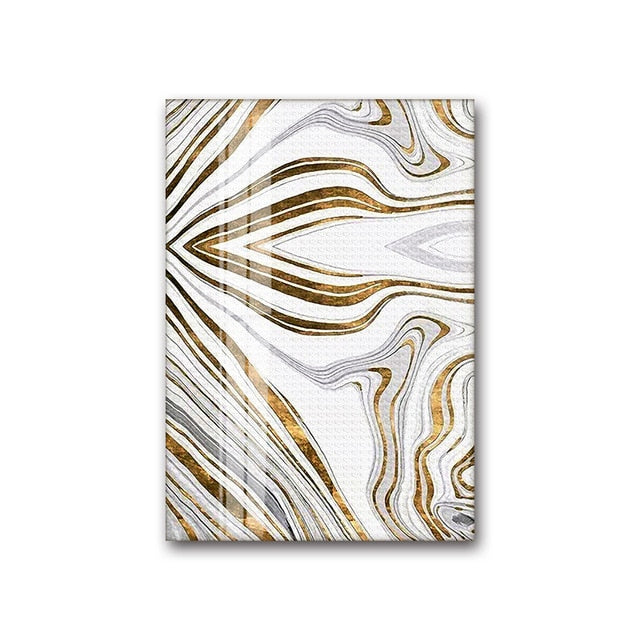 Golden Swirls Modern Abstract Wall Art White Gold Fine Art Canvas Prints Contemporary Art Decor Pictures For Bedroom Living Room Modern Interiors
