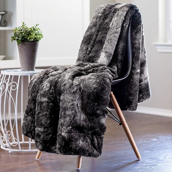 Super Soft Faux Fur Bedspread Blanket Throw Thick Luxury Fluffy Plush Blanket Cosy Warm Throw For Bedroom Living Room Winter Home Decor 8 Colors 3 Sizes