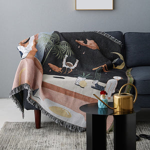Space Fantasy Sofa Throw Tapestry Travel Blanket Sofa Settee Furniture Cover Bedspread Weighted Blanket For Living Room Bedroom Autumn Fall Cosy Decor