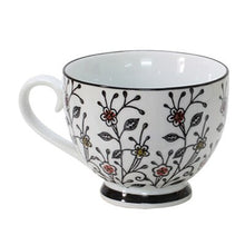 Load image into Gallery viewer, Lovely Hand Painted Floral Ceramic Breakfast Tea Coffee Mug Large Tea Cup Porcelain Coffee Cup Country Farmhouse Drinkware 1Pc 400ml