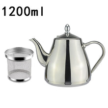 Load image into Gallery viewer, Classic Designer Polished Stainless Steel Tea Pot With Tea Strainer Filter Ergonomic Handle Beautiful Art Grade Teapot Comes In 3 Sizes