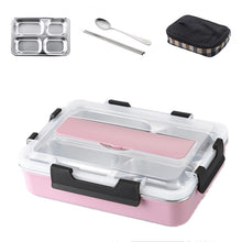 Load image into Gallery viewer, Stainless Steel Leak-Proof Lunch Box Partitioned Meal Container With Spoon Portable Dinnerware Bento Box Lunch Boxes For Travel Picnics