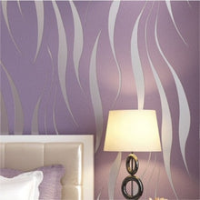 Load image into Gallery viewer, Modern Embossed 3D Abstract Curves Wallpaper For Living Room Bedroom Contemporary Home Decor Wavy Stripes Wallpaper